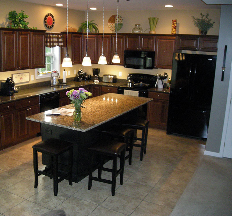 Countertop island supports hidden for 3 4 inch granite countertops
